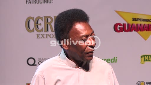 Pele - brazilian soccer legend while opening ceromony of a new sport league (2 of 2)